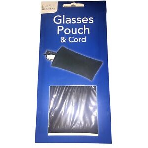 Easy Readers Brand New and Sealed Glasses Pouch & Cord Unisex Black