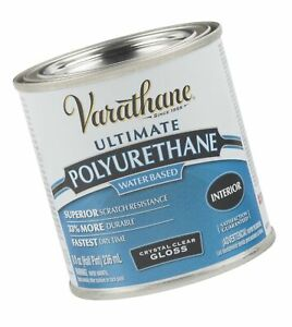 Varathane 200061H Water-Based Ultimate Polyurethane, Half Pint, Gloss Finish,...