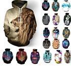 Unisex Hoodie Jacket Coat 3D Graphic Print Pocket Jumper Tops Hooded Sweatshirt