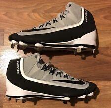 Nike Huarache 2K Filth Pro Mid metal Baseball Cleats. Men size 11. Gray/Black