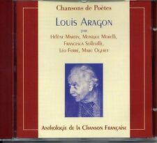 Anthologie de la chanson : chansons de Poetes : Louis Aragon CD