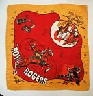 "1950's large ROY ROGERS silk-like scarf bandana 24"" by 24"" TM"