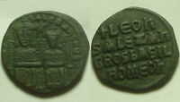 Rare Original ancient BYZANTINE coin Leo VI & Alexander 886-912AD Follis CROSS
