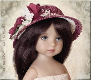 ELDERBERRY WINE Doll Hat, Effner, Ellowyne,Kitty Collier,Betsy McCall,Iplehouse