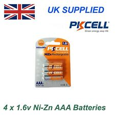 PKCELL Ni-Zn 4 x 1.6V AAA 900 mWh High Performance Recharable Batteries