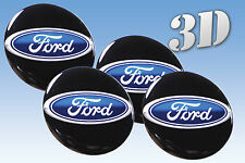 FORD 3D F150 250 350 TRUCK DUALLY 70mm WHEEL RIMS CENTRE EMBLEM DECALS STICKERS