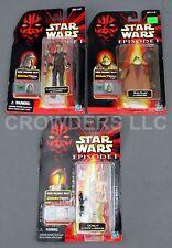 Star Wars EP1 Boss Nass Captain Tarpals & OOM-9 CommTech Figures Hasbro 1998 NIP