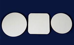 2er, 3er Sets Holzscheiben 3mm Sperrholz Bierdeckel Untersetzer Furnierplatte