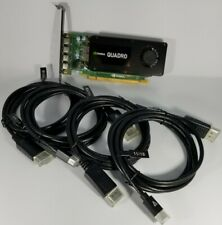 Nvidia Quadro K1200 4GB GDDR5 Mini DP DisplayPort Cables Windows 10 Video Card
