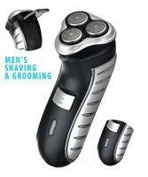 3-HEAD MENS RECHARGEABLE CORDLESS MENS SHAVER SHAVE SIDEBURNS TRIMMER ELECTRIC