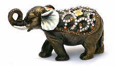 Elephant Indian  Enamel Pill Trinket Jewelled Box Collectable  Boxed CLEARANCE