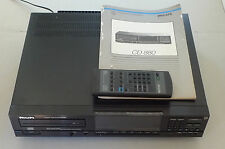 Philips CD880 CD CD-Player with original remote. S1 single crown DAC TDA1541A