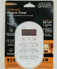 My Touchsmart 35150 Indoor Plug-in Digital Timer 2-Outlet 7-Day SunSmart New