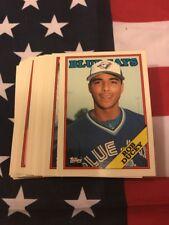 1988 Topps Tiffany Toronto Blue Jays Team Set