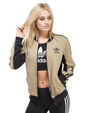 100% Genuine Adidas Originals Supergirl Women's Track Top - Gold / Black - UK 10