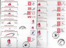 FRANCE 14 ENVELOPPES FDC JEUX OLYMPIQUES ALBERTVILLE 1992 PARFAIT ETAT 6 PHOTOS