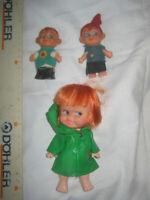 Bambole 3 miste vintage