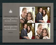 GB 2011 MNH Royal Wedding HRH Prince William & Kate Middleton 4v M/S Stamps