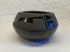 Signed Lucaria Black Pot, Indian, Native American, Pottery