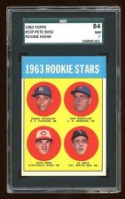 SGC 7 PETE ROSE 1963 TOPPS ROOKIE RC CARD HIGH # 537  BEAUTIFUL ROSE RC SGC 84