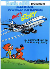 """ROBA """"Boule et Bill présentent Sabena world airlines"""" NEUF !"""