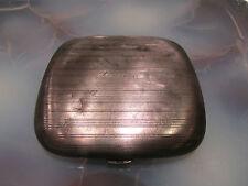 ancienne boite etui a cigarettes metal argenté lourdes forme flasque epoque 1900