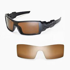 New Walleva Polarized Brown Lenses For Oakley Oil Rig