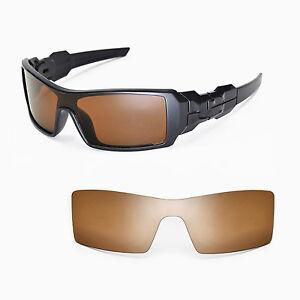 New Walleva Polarized Brown Lenses For Oakley Oil Rig