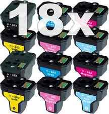 18x XL PATRONE für HP-363 C5180 C6250 C7180 C7280 C8180 3110 3210 3310 8230 8250