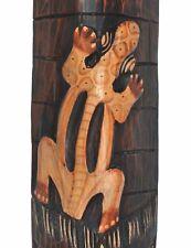 Wandmaske 100cm Gecko Motiv Holzmaske AFRIKA 1,00M NEU
