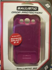 Samsung Galaxy S3 BALLISTIC drop protection SHELL & GEL Pink Case