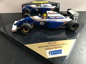 Vintage ONYX #5016A Williams Renault FW16 - Ayrton Senna - 1/24 scale die cast