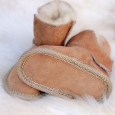 Children Infant Kids Babies Handmade Sheepskin Boots Slippers Newborn 2years