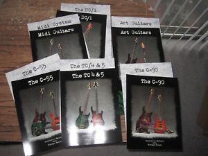 Brian Moore C-55 DC/1 C-90 TC-4 5 custom guitars vintage brochure owners manual