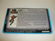 GI JOE FLINT FILE CARD Vintage Action Figure HALF CUT GREAT SHAPE 1994