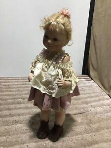 """Alberon 554 / 2500 22"""" Standing Female Girl Porcelain Doll"""