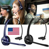 Mpow Pro Trucker Bluetooth Headset Phone Headphone with Mic For iPhone Samsung