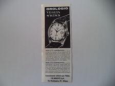 advertising Pubblicità 1963 OROLOGIO VEGLIA SWISS - BORLETTI