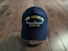 USS INTREPID CVS-11 NAVY SHIP HAT U.S MILITARY OFFICIAL BALL CAP U.S.A MADE