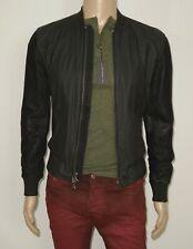 $498 NEW John Varvatos Bomber Jacket Leather Trim/Sleeves in Black XSmall