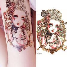 Big eyes Dolls Fashion Temporary Tattoo Waterproof Body Arm Leg Art Stickers