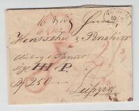 Preußen - Faltbriefhülle mit einem Ellipsensegmentstempel TORGAU, 10.7.1824 !!!