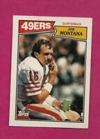 1987 TOPPS # 112 49 ERS JOE MONTANA  EX-MT CARD (INV# A6272)