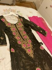 INDIAN / Pakistani FABRIC DRESS Georgette Party WEAR SALWAR KAMEEZ Size S