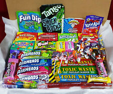 American Sweets Gift Box Candy Hamper, Nerds, Jolly Rancher, Personalised Note