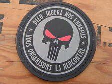 SNAKE PATCH PVC - GRIS - PUNISHER dieu jugera nos ennemis  girl femme airsoft
