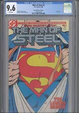 Man of Steel #1 CGC 9.6 1986 DC Superman: John Byrne, Silver Logo: New Frame