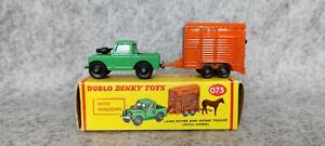 Duplo Dinky Toys 073 Land Rover and Horse Trailer in Box