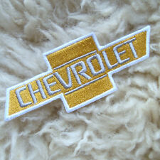 1pc.x gold chevrolet name embroidered iron on or sew on patch badge apparel