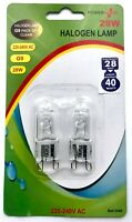2 x G9 28w = 40w Halogen Bulbs DIMMABLE Long Life Capsule Lamps Pack